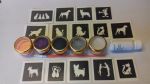 Cat & dogs mini themed glitter tattoo set including 40 stencils + 5 glitter colours + glue cats kitten puppy dog Crufts
